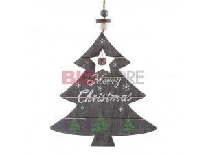 Χριστουγεννιάτικο ξύλινο διακοσμητικό στολίδι 29 x 14 εκ.