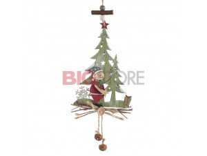 Χριστουγεννιάτικο κρεμαστό δεντράκι διακόσμησης 11 x 36 εκ.