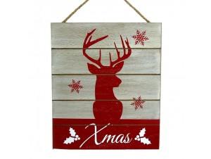Χριστουγεννιάτικο ξύλινο ζωγραφιστό κάδρο 25,5 x 0,5 x 30 εκ.