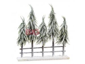 Χριστουγεννιάτικος διακοσμητικός φράχτης με φως 60 εκ.