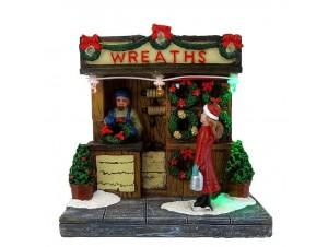 Χριστουγεννιάτικο διακοσμητικό μαγαζάκι με φως 10,5 x 8,5 x 10,5 εκ.