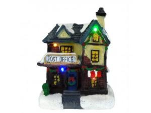 Φωτιζόμενο Χριστουγεννιάτικο διακοσμητικό σπιτάκι 10 x 8,5 x 13,5 εκ.