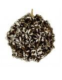 Χριστουγεννιάτικη ανάγλυφη μπάλα διακόσμησης 15 εκ.