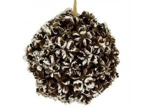 Χριστουγεννιάτικη ανάγλυφη μπάλα διακόσμησης 20 εκ.