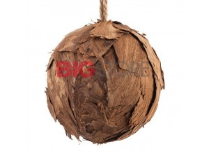 Ξύλινη διακοσμητική μπάλα Χριστουγέννων 15 εκ.
