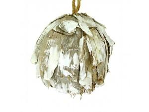 Ξύλινη διακοσμητική μπάλα Χριστουγέννων 10 εκ.