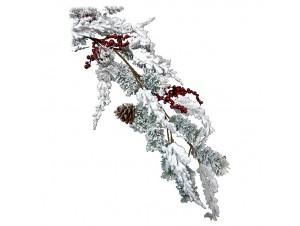 Χριστουγεννιάτικη χιονισμένη διακοσμητική γιρλάντα  150 εκ.