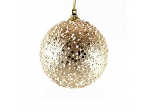 Χριστουγεννιάτικη μπάλα διακόσμησης με χιόνι 8 εκ.
