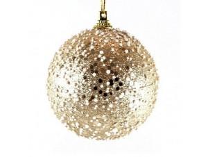 Χριστουγεννιάτικη μπάλα διακόσμησης με χιόνι 20 εκ.