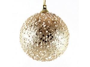 Χριστουγεννιάτικη μπάλα διακόσμησης με χιόνι 25 εκ.