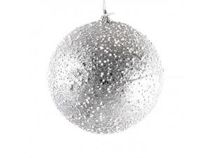 Χριστουγεννιάτικη μπάλα διακόσμησης με χιόνι 15 εκ.