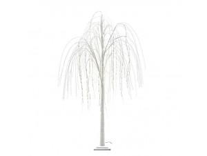 Άσπρο Χριστουγεννιάτικο Δέντρο με LED 200 εκ.