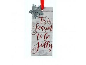 Χριστουγεννιάτικο κρεμαστό στολίδι πινακίδα