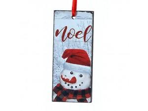 Χριστουγεννιάτικο κρεμαστό στολίδι πινακίδα  5 x 10 εκ.