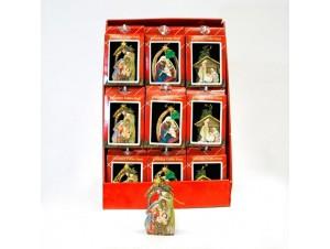 Κρεμαστό Χριστουγεννιάτικο διακοσμητικό στολίδι για δέντρο 9,5 x 11,5 εκ.