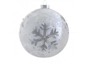 Χριστουγεννιάτικη διάφανη μπάλα διακόσμησης 12 εκ.