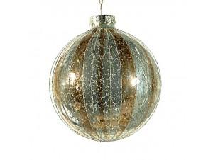 Δίχρωμη Χριστουγεννιάτικη διακοσμητική μπάλα 10 εκ.