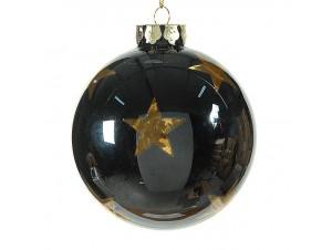 Χριστουγεννιάτικη γυάλινη μπάλα διακόσμησης 10 εκ.