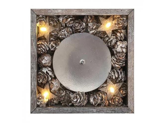 Χριστουγεννιάτικο κηροπήγιο με LED 13 x 13 x 4,5 εκ.