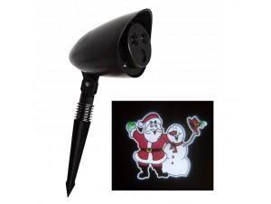 Χριστουγεννιάτικος προβολέας με LED κινούμενη παράσταση