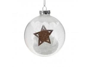 Διάφανη Χριστουγεννιάτικη Γύαλινη Μπάλα