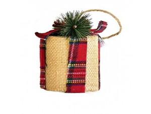Χριστουγεννιάτικο διακοσμητικό στολίδι δώρο 9 εκ.