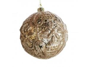 Χριστουγεννιάτικη διάφανη μπάλα διακόσμησης 10 εκ.