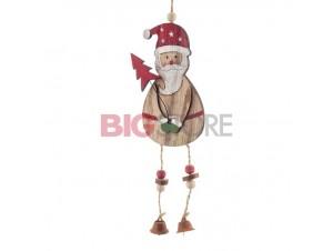 Χριστουγεννιάτικο ξύλινο στολίδι Άγιος Βασίλης 32 x 7,5 εκ.