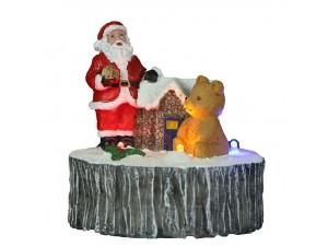 Φωτιζόμενο Χριστουγεννιάτικο διακοσμητικό  σε πέτρα 9 x 10 εκ.