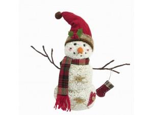 Χριστουγεννιάτικο λούτρινο χιονανθρωπάκι 40 εκ.