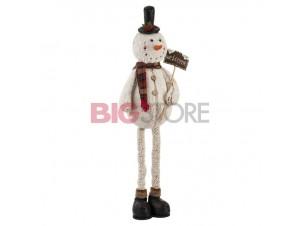 Χριστουγεννιάτικος λούτρινος χιονάνθρωπος 106 εκ.