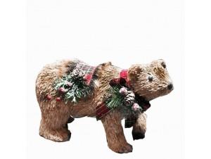 Χριστουγεννιάτικη διακοσμητική αρκούδα 28 x 12 x 19 εκ.