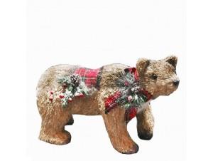 Χριστουγεννιάτικη διακοσμητική αρκούδα 37 x 16 x 23 εκ.
