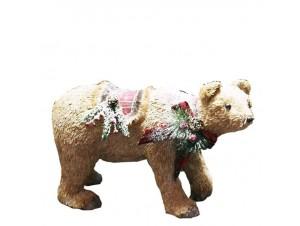 Χριστουγεννιάτικη διακοσμητική αρκούδα 50 x 20 x 32 εκ.