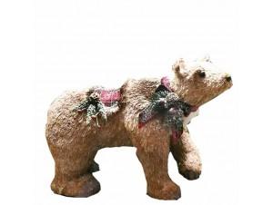 Χριστουγεννιάτικη διακοσμητική αρκούδα 59 x 27 x 45 εκ.