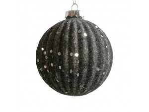 Χριστουγεννιάτικη γυάλινη με γκλίτερ μπάλα 8 εκ.