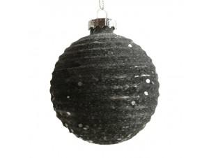 Χριστουγεννιάτικη γυάλινη με γκλίτερ μπάλα 10 εκ.