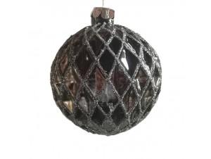 Χριστουγεννιάτικη γυάλινη μπάλα διακόσμησης 8 εκ.