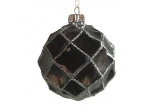 Γκρι μπάλα στολισμού Χριστουγεννιάτικου δέντρου