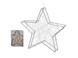 Φωτιζόμενο Χριστουγεννιάτικο αστέρι διακόσμησης 30 εκ.