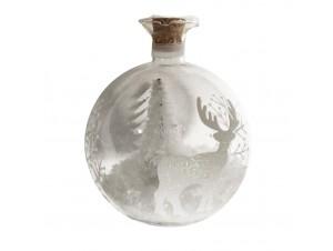 Χριστουγεννιάτικη φωτιζόμενη μπάλα ρόδι διακόσμησης 8 εκ.