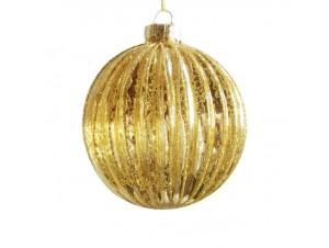 Χριστουγεννιάτικη χρυσή αντικέ μπάλα 8 εκ.