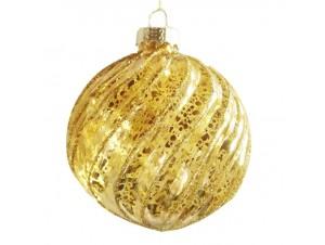 Χριστουγεννιάτικη χρυσή αντικέ μπάλα 10 εκ.