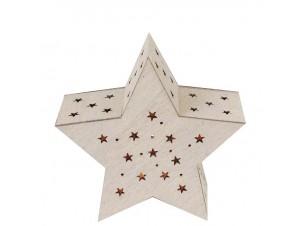 Φωτιζόμενο Χριστουγεννιάτικο αστέρι 12 x 12 x 5,5 εκ.