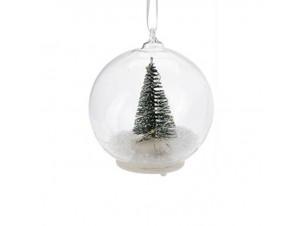Φωτιζόμενη Χριστουγεννιάτικη μπάλα 8 εκ.