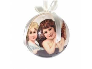 Χριστουγεννιάτικη μπάλα με αγγελάκια 10 εκ.