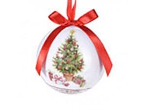Χριστουγεννιάτικη μπάλα με κορδέλα 8 εκ.