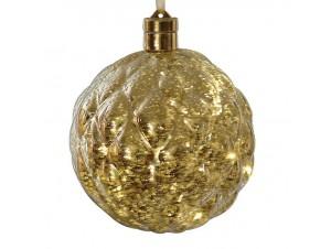 Χριστουγεννιάτικη φωτιζόμενη μπάλα 15 εκ.