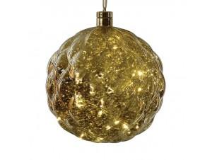 Χριστουγεννιάτικη φωτιζόμενη μπάλα 20 εκ.