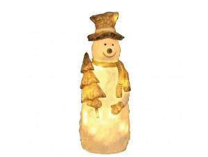 Χιονάνθρωπος Ακρυλικός με 40 LED 35 εκ.
